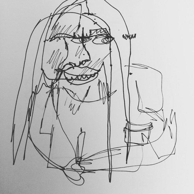 Continuous line sketch